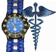 EMS, M.D., Nurse, Other Med. Smith & Wesson Watch Face with Paracord Watch Band