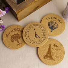 Newest Cork Wood Tea Coffee Cup Coaster Flexible Table Heat Resistant Round Mats