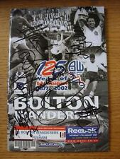 11/01/2003 Autographed Programme: Bolton Wanderers v Fulham  [Signed By 8]. Item