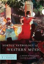 Norton Anthology of Western Music Sixth Edition)  Vol. 1: Ancient to Baroque)