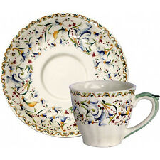 Gien Toscana Cup & Saucer American Size  NEW NEVER USED French Bone China