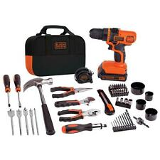 Black & Decker 20V MAX Li-Ion Drill and Project Tool Kit LDX120PK New