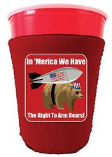 Coolie Junction Right to Arm Bears Funny Solo Cup Coolie Merica, Murica