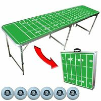 Football Field Beer Pong Table 8 Foot Portable Go Pong Brand
