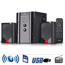 NEW BeFree 2.1 CHANNEL SURROUND SOUND BLUETOOTH SPEAKER SYSTEM USB/SD/FM REMOTE