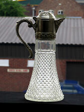 Vintage Glass & Silver Plated Wine decanter / Claret Jug / Pitcher