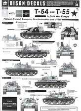 Bison Decals 1/35 Russian T-54 & T-55 Tanks in the Cold War in Europe