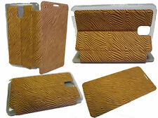 For Samsung Galaxy Note 3 N9000 N9005 Wallet Cover Pouch Case Zebra Light Brown