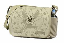 Heavy Weight Army Eagle Canvas Messenger Courier Bag