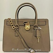 NWT Michael Kors Large Saffiano Hamilton East West Satchel Dark Dune Bag $358