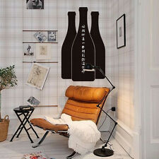 New Black Chalkboard Wine Bottle Self Adhesive Vinyl Wall Sticker