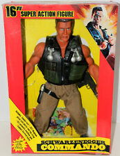 "COMMANDO DIAMOND TOY MAKER 16"" SCHWARZENEGGER  FIGURE W/ACCESSORIES & BOX 1986"