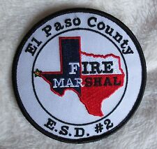 "El Paso County Fire Marshal Patch - Texas - 4"" x 4"""