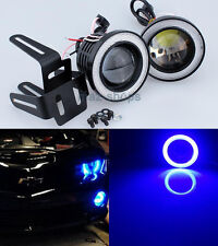 "2.5"" Blue Projector LED Fog Light w/ COB Halo Angel Eyes Rings For Mitsubishi"