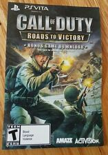 PS Vita Call Of Duty Roads To Victory Full Game Download Voucher Card Only