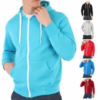 Mens Zip Up Plain Tracksuit Hoody Hoodie Hooded Top Jacket Sweatshirt Sport
