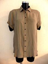 Tunique chemise THE KOOPLES, taille XL, 100% soie marron, NEUF, authentique