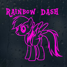 Rainbow Dash De My Little Pony coche decal Vinilo Adhesivo Para Ventana De Parachoques Panel
