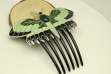 Quality Titanic Rose's Butterfly Green Hair Comb Bead Lady's Hairpin Accessories