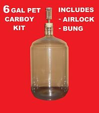 CARBOY KIT 6 GALLON PET w/AIRLOCK BUNG VINTAGE SHOP FOR WINE MAKING HOME BREWING