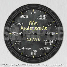 Math Equation Chalkboard Personalized Decorative Wall Clock - Teacher Gift