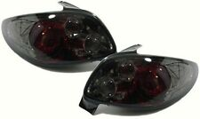 Black tinted platinum clear tail lights rear lights for Peugeot 206 98-05