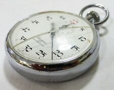 stopwatch Swiss made berco 1960's original box crack in glass working vintage