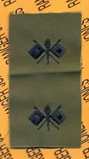 US Army SIGNAL Corps Branch Officer Insignia sew on patch set