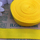 5 Yards 1Inch (25mm)  Width Length Nylon Webbing Strapping Pick Yellow MG04