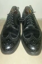 FLORSHEIM Royal Imperial Dress Shoes 9.5 D Black V-Cleat 5-Nail Wingtips