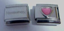 PINK HEART 9mm Italian Charm +1x Genuine Nomination Classic Link I LOVE YOU E505