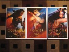 "Wonder Woman - 2017 (11"" x 17"") Movie Collector's Poster Prints ( Set of 3 )"