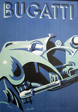 Vintage Automobilia Bugatti Racing Canvas Image (Video)