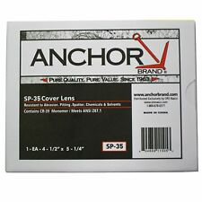 """5 Clear Outside Cover Replacement Lens for Helmets needing  4.5"""" X 5.25"""" Lenses"""