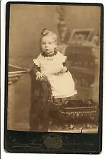 Vintage cabinet photo of All American girl w/ bird toy Ottawa, Canada