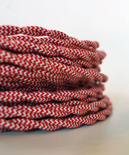 PEPPERMINT TWIST - Cloth Covered Wire 25 ft - Braided wire - Fabric