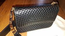 Authentic BALLY LOGOS Quilted Small Shoulder Bag/Purse w/Dustbag~Leather~ITALY!