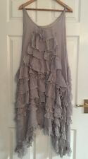 * STUNNING * New MAGNOLIA PEARL Ruffle SILK Dress Ladies ONE SIZE