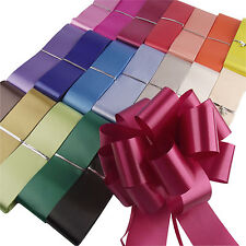 40 grands arcs pull gros couleurs assorties! Fleuriste 50mm pullbows lot en vrac