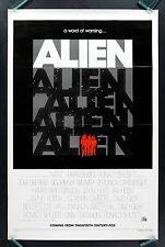 ALIEN * CineMasterpieces VINTAGE ORIGINAL MOVIE POSTER ADVANCE TEASER HORROR '79