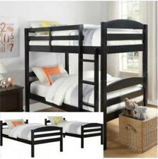 Wooden Bunk Beds For Kids Toddler Beds Twin Over Twin Ladder Girls Boys Loft NEW