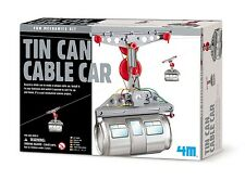 TOYSMITH 4M 5575 TIN CAN CABLE CAR DIY KIT Ages 8+