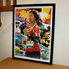 Boston Marathon, Runner, Massachusetts, Athlete, Sports, 18x24 POSTER w/COA