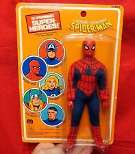 "MEGO 1979  PIN PIN TOYS VARIANT  SPIDERMAN  8"" FIGURE IN ORIGINAL PACKAGE"