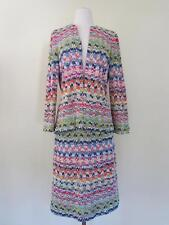 Vintage 1970s Missoni Spring Matching Jacket & Skirt Set Multi Color Must See