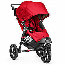 Baby  City Elite Red Jogger Single Seat Stroller