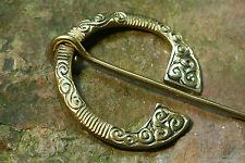 FIBEL Keltische Ringfibel groß Fibel Gewandschliesse messing Wikinger / Kelten