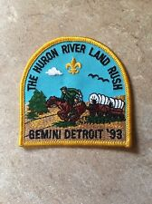 THE HURON RIVER LAND RUSH GEMINI DETROIT '93 PATCH