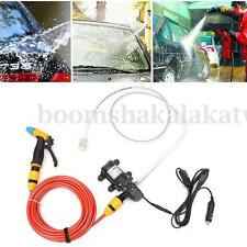 12V 65W Electric Car Washer High Pressure Water Pump Gun Portable Spray Cleaner
