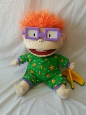 "RUGRATS CHUCKY lit temps large 17"" soft toy plush doll NICKELODEON 1998 rare"